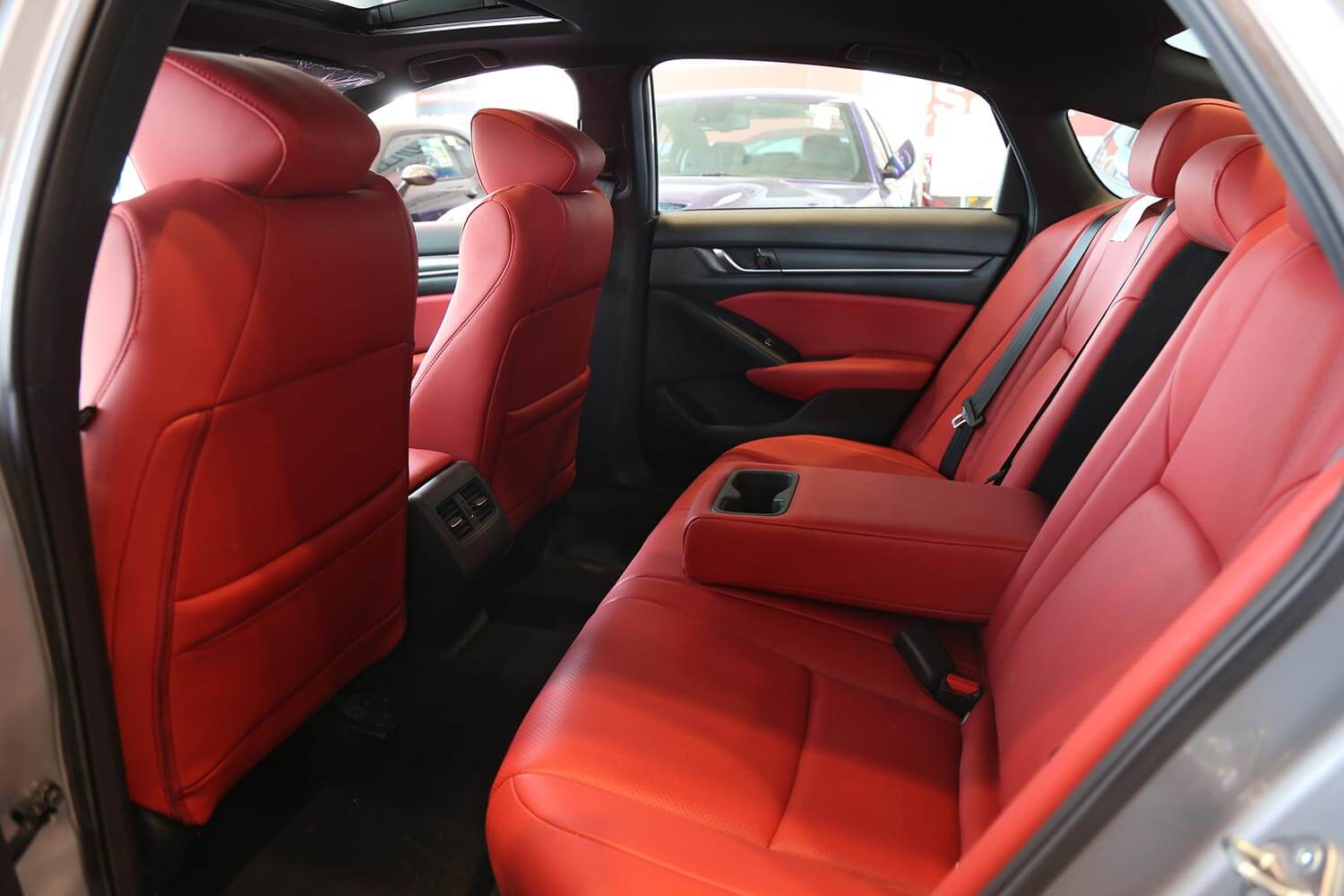 Interior Image for  HONDA Accord LX SPORT red leather 2019
