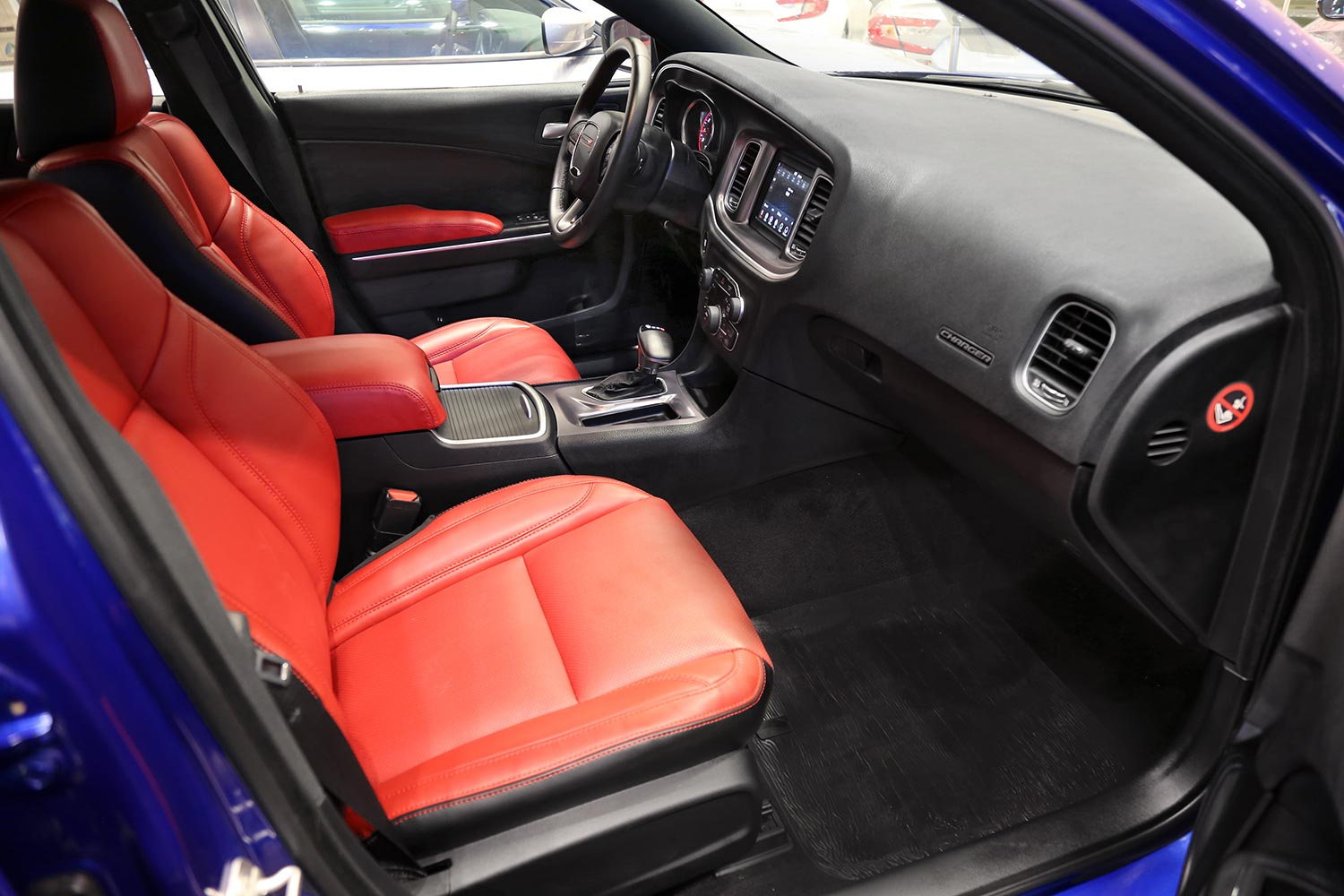 Interior Image for  DODGE Charger SXT-A red leather 2020
