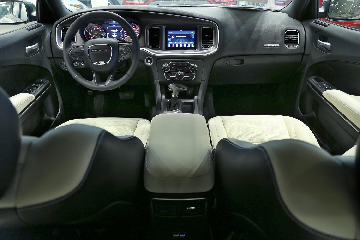 Interior Image for  DODGE Charger SXT-A light beige leather 2020